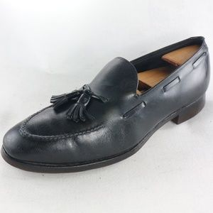 VTG Biltrite Blk Leather GOLF CLEAT Tassel Loafers